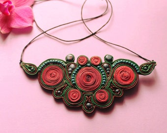 Accessories, psychedelic necklace, colorful biju