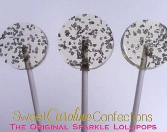 Black Hawaiian Sea Salt Lollipops, Candy Lollipops, Party Favors, Salted Caramel, Candy, Hard Candy Lollipops-6/Set