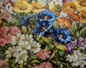 Furstenberg Wall Plate, Decorative Plate, Wall Plate, Home Decor, Plate, Gifts, Floral, Flowers, Gardens, Butterflies, Woodland.