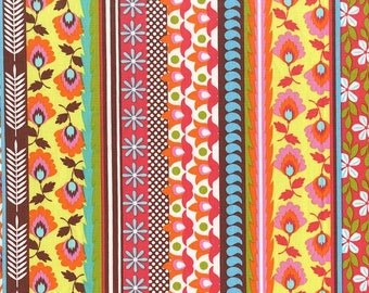 Evita in Chocolate Michael Miller Fabric 1 yard Modern Fabric Fiesta Collection