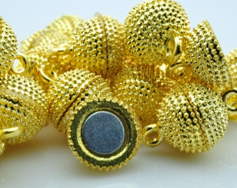 10 Sets of Gold plated Magnetic Clasp in 12mm
