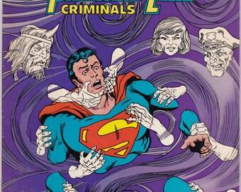 Vintage DC Comics Presents Comic Book Summer 1986 No 97 DC Comics - Superman - Phantom Zone - Criminals - Final Chapter - Pre-Crisis
