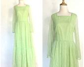 Vintage Boho Hippie Dress...