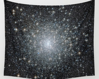 Messier 15 Wall Art Tapestry, Space Tapestry, Stars, Planets, Black Wall Art, Star Clusters, Nature, Nebula,Sparkle, Office, Milky Way,Dorm