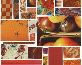 Orange Mosaic Card