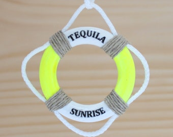 Tequila Sunrise, Nautical, Ornaments, Key West, Boating Gifts, Humorous Gifts