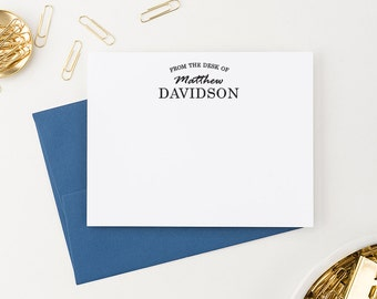 Monogram Stationery for men, Personalized Correspondence cards, From the Desk of Stationary for Men, Custom Stationery for Men - ML006