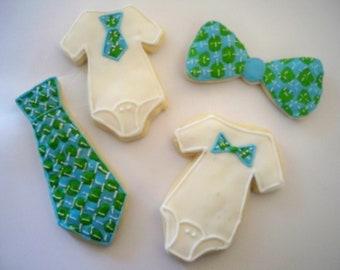 Little Man Baby Cookies