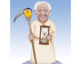 Bernie Sanders Father Time Print