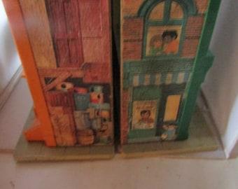 Vintage Fisher Price Sesame Street Play Family