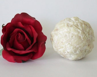 Rose Honey Soap Ball, organic ingredients
