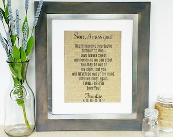 LOSS OF SON - Sympathy Gift - Memorial Gift Son - Death of Son - Loss of Loved One - Sympathy Gifts Men - Sons Death - Words of Sympathy