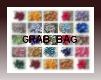 Fabric flower appliques, fabric flowers, satin flowers, flowers for wedding crafts (10 pcs)- GRAB BAG In Assorted Flowers Of Your Choice