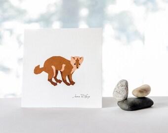 Pine marten drawing, Canadian wildlife, marten illustration, wild animals, natural history art, woodland animal nursery wall art, home decor
