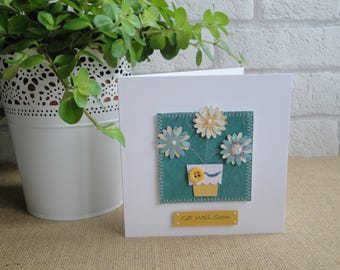 Mother's Day Card - Handmade Flower Card - Birthday Card For Her - Card for Mum - Get Well Card - Thank You Card - Thinking of You Card