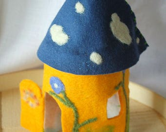 Toy Fairy Play House-Yellow and Blue