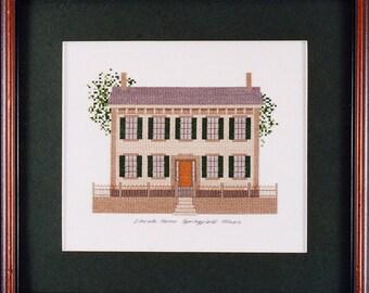 Abraham Lincoln Home Cross Stitch Kit