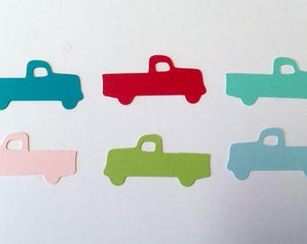 Pickup Confetti, Wedding, Baby Shower, Blue Truck Party Decor, Old Truck Table Sprinkles,  Scrapbook, Card Making Color Options