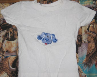 New handmade size 18 months toddler blues clues embroidered t-shirt for boy or girl