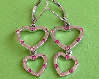 Heart Crystal Earrings