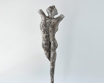 Torso sculpture, Metal wall art, metal art sculpture, Living room art, Interior design, Free standing sculpture