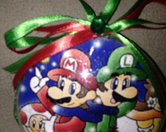 Mario n luigi ornament