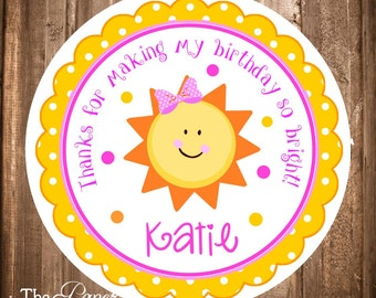 You are My Sunshine Favor Tags, PRINTABLE Sunshine Gift Tags, Sunshine Stickers, You are My Sunshine Birthday Party, DIY