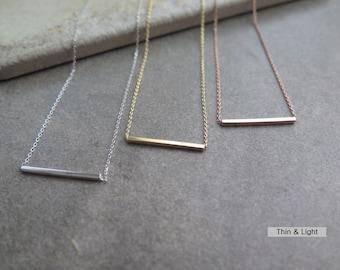 Thank you SALE / Simple bar necklace / delicate bar necklace / layered bar necklace / delicate bar necklace  / Bridesmaid Gfit