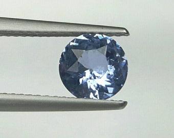1.24ct 6.6mm blue natrual Sapphire