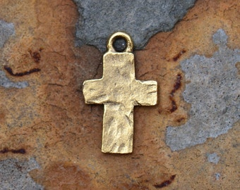 Antique Gold Rustic Cross Charms 17.5x10.7mm Nunn Designs, Pick A Deal,  LOW SHIPPING
