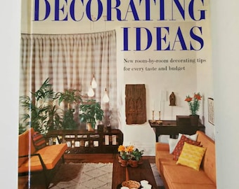 1960 Decorating Ideas hardcover book by Better Homes and Gardens. Mid Century Modern vintage decor ideas, photography, design.