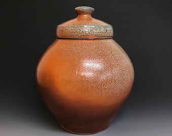 Pottery Jar - Ginger Jar - Storage Jar - Soda Fired Stoneware - Ron Philbeck Pottery