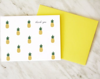 Thank You Card / Pineapple Card / Cute Thank You Card