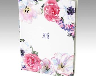 Notebook Journal - 2018 Notebook Planner, Bullet Journal, Diary 2018, Watercolor Journal, Graph Paper, Unlined Journal, Blank Notebook
