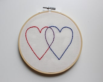 Valentine Hand Embroidery Hoop