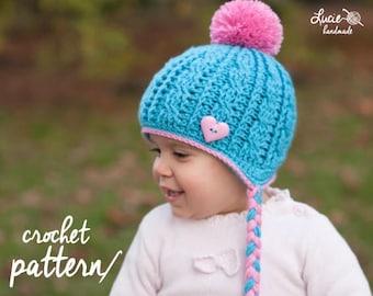 Crochet Hat PATTERN No.35 - Winter Beanie, Winter Hat Crochet Pattern, Crochet Pattern Hat