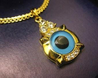 gold evil eye necklace, evil eye necklace,  evil eye jewelry, evil eye pendant, gold evil eye charm, eye jewelry, eye necklace