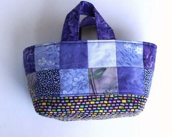 Fabric Basket Organizer Small Storage Bin Fabric Bucket Purple