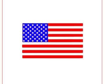 USA Flag Stencil Two-Step