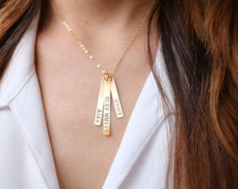 Vertical bar necklace, Momy Personalized necklace, Baby name necklace, Mothers day gift, mom necklace, Baby name necklace, Y necklace