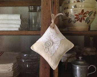Little Lavender Pillow made with old
