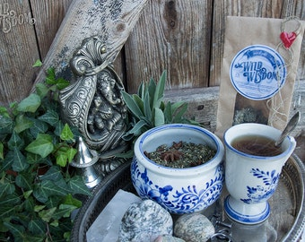 TWILIGHT MIST TEA - Organic Herbal Night Evening Loose leaf Women Men Gift Christmas Birthday Mothers day Fathers day Remedy Herb Herbs