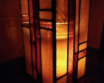 Stained Glass Candle Cover