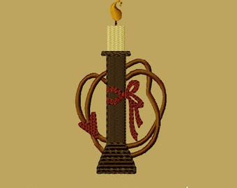 MACHINE EMBROIDERY-Spool with Candle-4x4-Fill-Instant Download