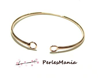 Jewelry supplies: 1 Bangle is rigid ROSE gold nickel free