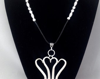 "Fork ""Heart"" Necklace #1021"