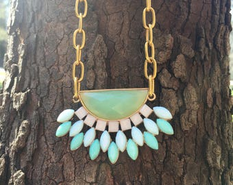 Gold and Mint Necklace