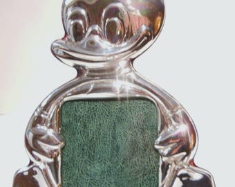 Italian Sterling Silver Baby's  Picture Frame - Duckling.