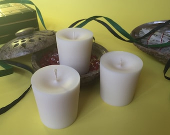 White Unscented Soy Wax Votives