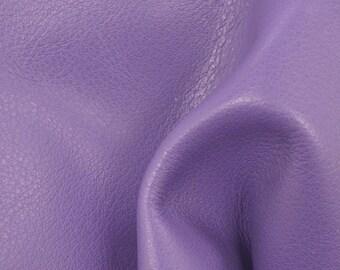 "Graceful Pansy Purple ""Signature"" Leather Cow Hide 4"" x 6"" Pre-cut 2-3 oz flat grain TA-58538 (Sec. 8,Shelf 6,D,Box 3)"